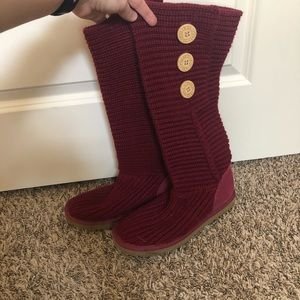 Uggs red sweater material - size 7